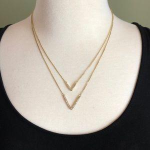 Victoria's Secret Double V layered Necklace